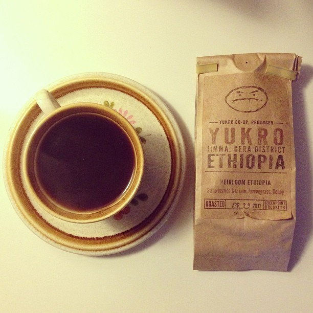Today's cup: Ethiopia Yukro Jimma, Gera District from @cafegrumpy #coffee