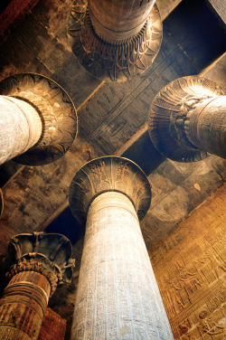 Temple of god Khenoum -Esna - Egypt By Montyshot.