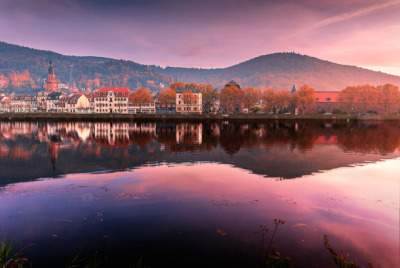 #heidelberg, #germany, #europe, #travel, #landscape, #colors, #view, #reflection