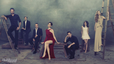 The cast of  Les Miserables for The Hollywood Reporter, opening Christmas day.
