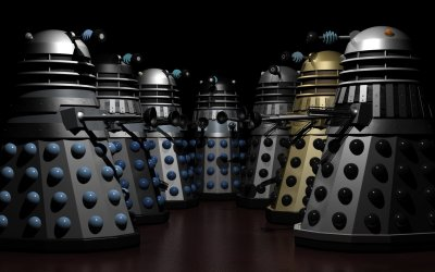 "koppitegrrrl:  RIP Ray Cusick designer of the dalek  A great piece of mid-century British design: ""radiator parts, boiler parts, and kitchen utensils—but they want to kill you"", as Nick Briggs said at Gallifrey One last week. Thanks, Mr Cusick."