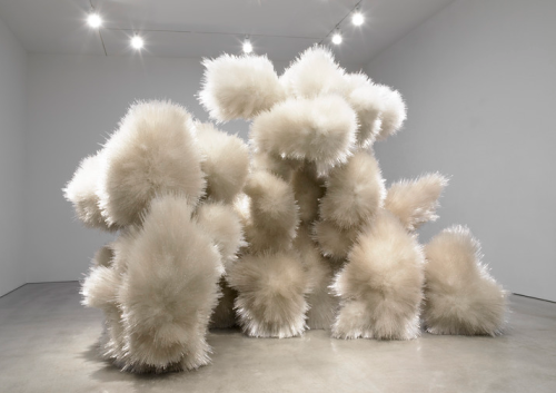 ericjohnolson:  Tara Donovan, Untitled, 2014. Aryllic and glue. More about the installation at Pace Gallery.