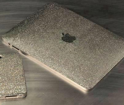 We are currently lusting over this swarovski crystal ipad cover with matching phone case. #BLING!