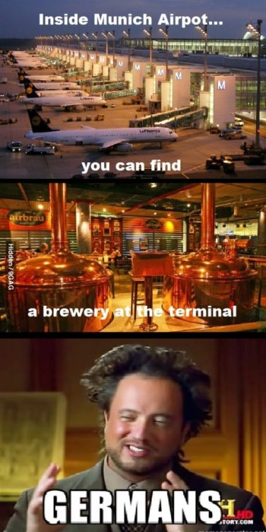 9gag:  Meanwhile in Germany  Beer is called Airbräu.