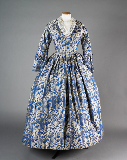 fripperiesandfobs:  Day dress, 1855 From the National Trust