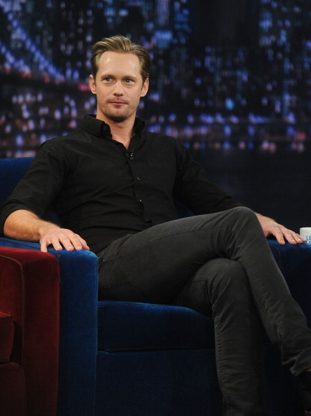 skarsgardnews:  Some pics from Alex's appearance on Late Night With Jimmy Fallon. Airs tonight on NBC.