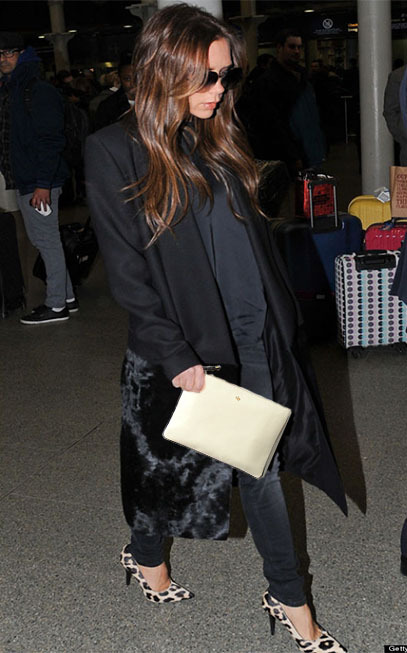 Check out Victoria Beckham sporting our Ela Editor's Pouch in off white!