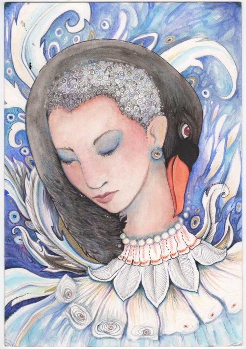 Leda and the Swan watercolour painting progressI am nearing the end of completing this little painting, which I have really enjoyed doing. As…View Post