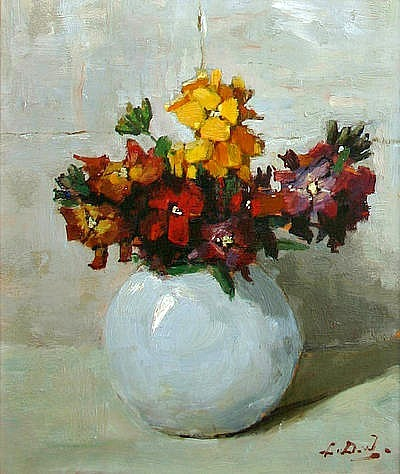 Lucie van Dam van Isselt Flowers in Vase 20th century