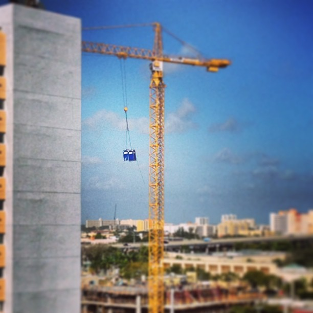 Flying portapotties! #miami #brickell #realestate