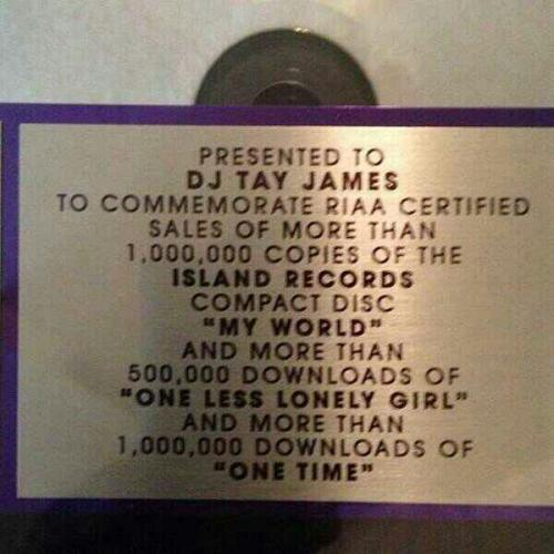 "believetupdates:  "" Plaques finally in #weknowthedj word to @justinbieber"" - djtayjames' via instagram"
