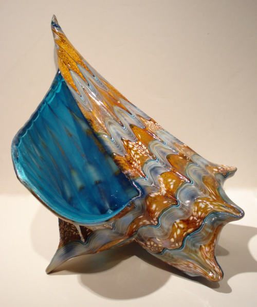 Marty Hook, King Conch Shell (blown glass)