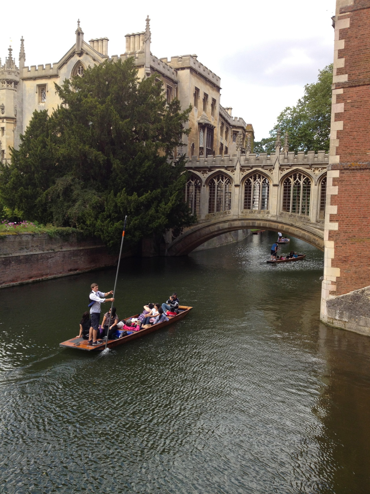 Punters on the river, Cambridge, UK.
