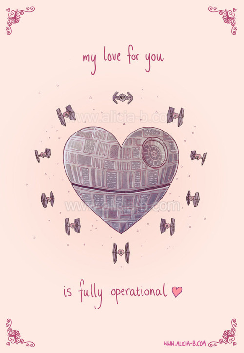 Witness the power of this fully operational Love Star! Valentines Card available here on Redbubble!