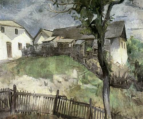 le-desir-de-lautre:  Béla Onódi (Hungarian, 1900-1991), Road to the Hill Szamárhegy, 1934, oil on canvas, 75 x 97 cm, private collection