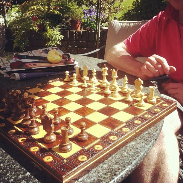 Dad just schooled me at chess :/