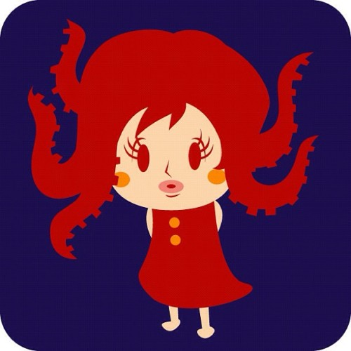 youmask:  Octopus girl #illustration #octopus #絵 #イラスト