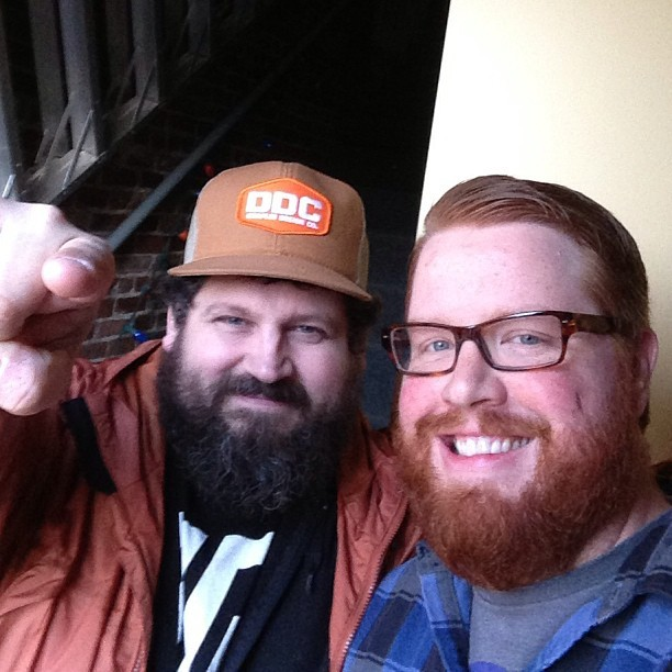 Finally met my man @draplin