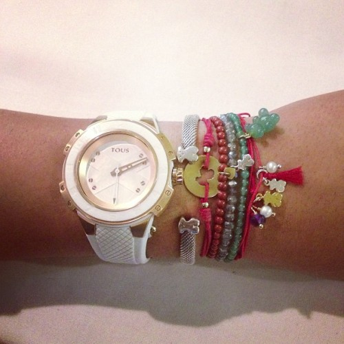 Look for today #watch #timepiece #bracelets #silver #vermeil #gold #gemstones #red #lovetouspics #welovetous #tousbocaraton #tousjewelry #bear #tous