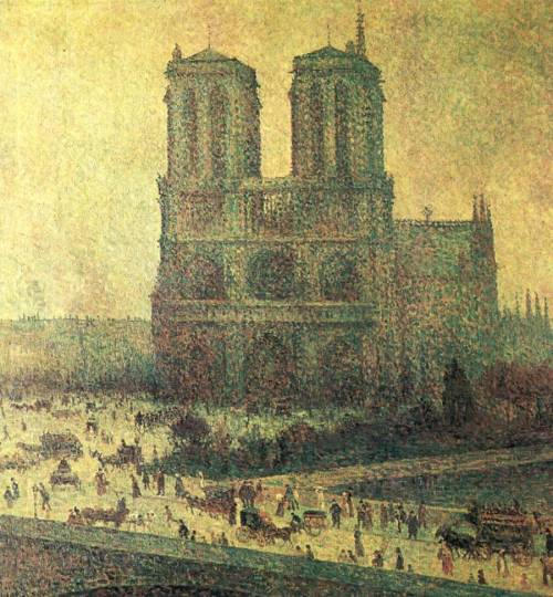 le-desir-de-lautre:  Maximilien Luce (French, 1858-1941), Notre-Dame, 1901, oil on canvas, 85 x 79 cm.