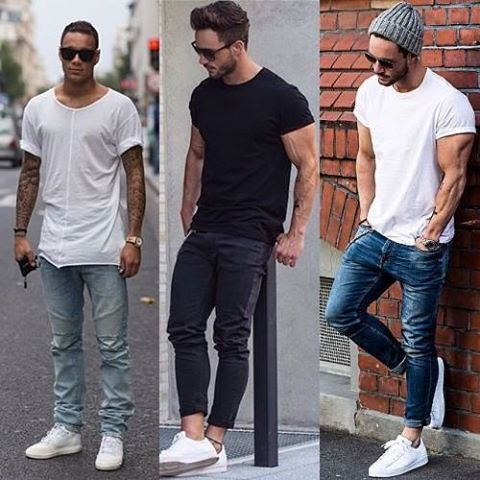 white shoes basic look menswear