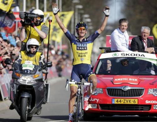 Amstel Gold 2013 Roman Kreuziger finally nets a big classics win! (Photo: © Bettini Photo via Amstel Gold Race 2013: Roman Kreuziger Gives Saxo-Tinkoff Its First Big Win Of The…, Photos | Cyclingnews.com)