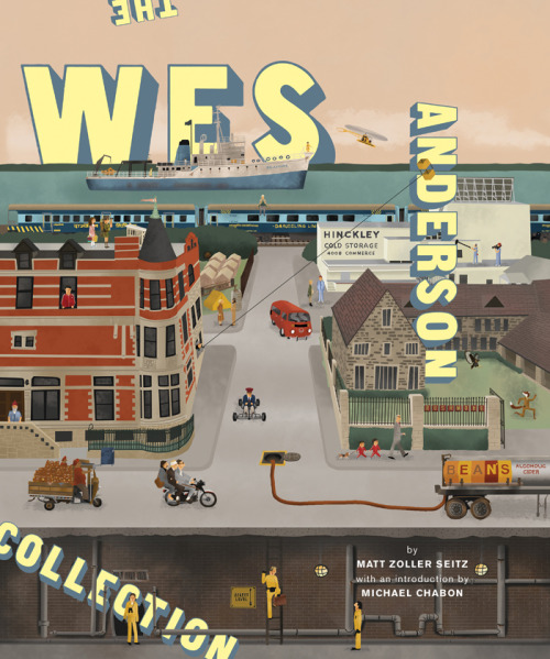 "abramsbooks:   Sneak preview of the front cover for THE WES ANDERSON COLLECTION by Matt Zoller Seitz, available wherever books are sold this October. Illus. by Max Dalton; design by Martin Venezky's Appetite Engineers  Spoke Art is honored and excited to see that one of our artists, Max Dalton, has been selected as the cover artist for the upcoming Wes Anderson monograph published by Abrams Books.  The book contains exclusive behind the scenes content for each of Anderson's movies and even includes some of the Wes Anderson fan art created for Spoke Art's annual Wes Anderson exhibition, ""Bad Dads""! Stay tuned for more info on this exciting release!"