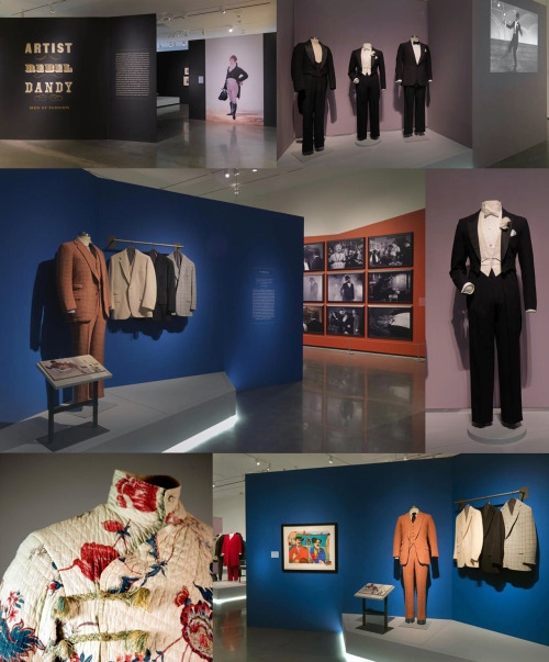 voxsart:  Artist/Rebel/Dandy: Men Of Fashion. Images from an exhibit open now through August 18th at the RISD Museum.  Clockwise from upper left: Beau Brummell; Fred Astaire; Richard Merkin; George IV; and Richard Merkin again.