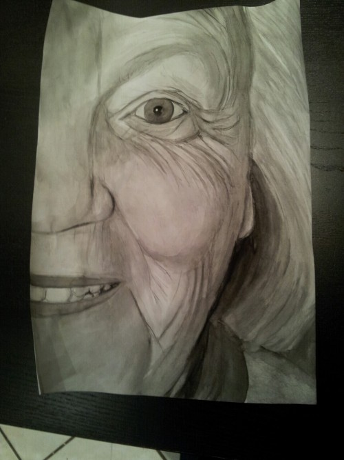 I did a painting of my granny, because she's the best :3