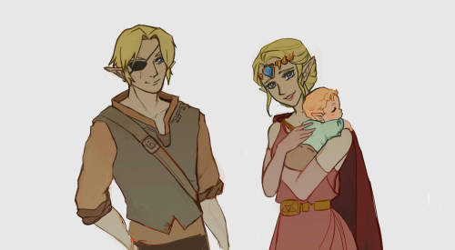 loz oot platonic zelink ayooo I hope they look older because I did try...