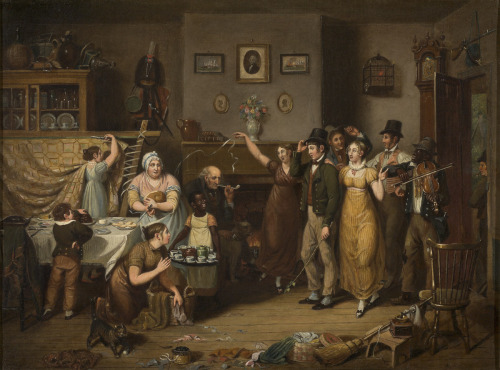 The Quilting Frolic by John Lewis Krimmel, 1813 Philadelphia, Winterthur Museum
