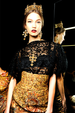 Backstage @ Dolce & Gabbana - Fall/Winter 2013