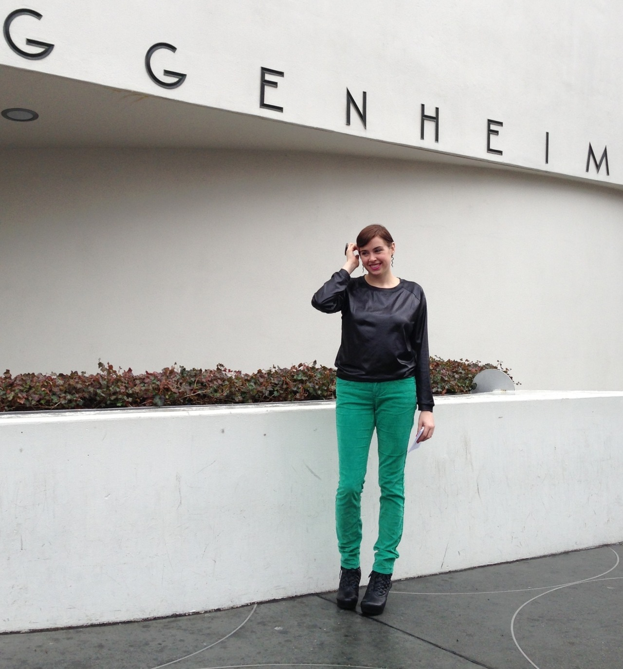 AT THE GUGGENHEIM IN SOME [FAUX] LEATHER