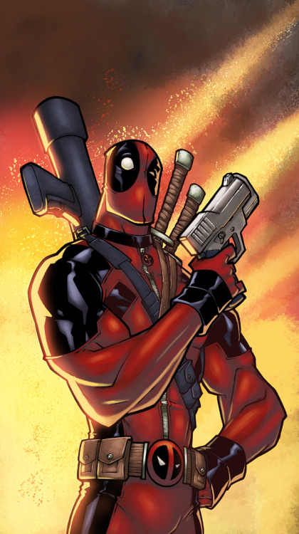 Deadpool // artwork by Pedro Delgado and  Laurent Logicfun (2013)