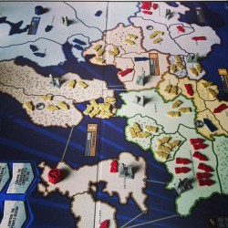 #risk 2 players, pure luck kinda game