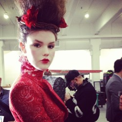 officialstyledotcom:  Backstage at Thom Browne. MS #nyfw