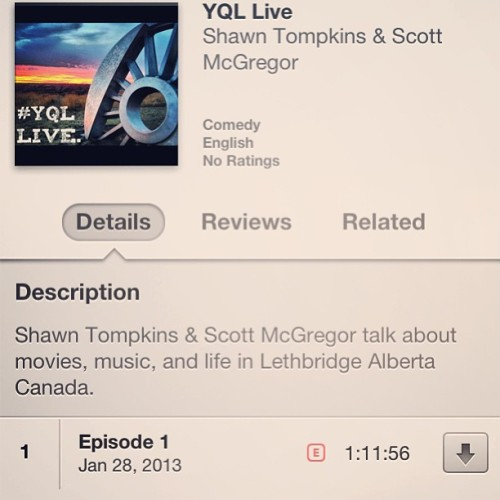 scottmcgregor:  Download my new #podcast on iTunes! Over 100 people have already. #yql