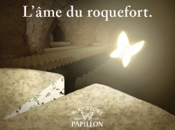 Roquefort Papillon, the soul of RoquefortPrint and billboard advertising.