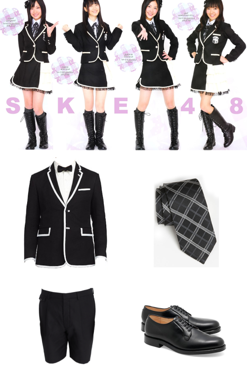 Wear it: SKE48 Team S Black Fleece . Black Fleece . English Laundry . Brooks Brothers