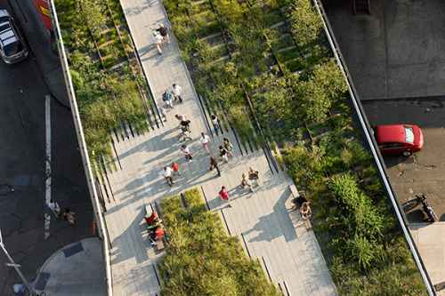 "ecogboutique:  Image source: High line landscape design by James Corner Field Operations New York, NY, USA ~ ""The earth has music for those who listen"""