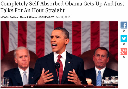 Nailed it. theonion:   Completely Self-Absorbed Obama Gets Up And Just Talks For An Hour Straight: Full Report