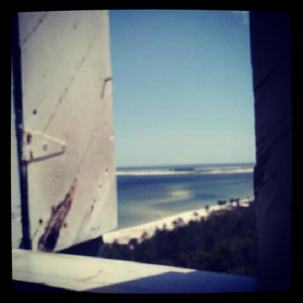 Lighthouse window view #lighthouse #pensacola #florida #photooftheday