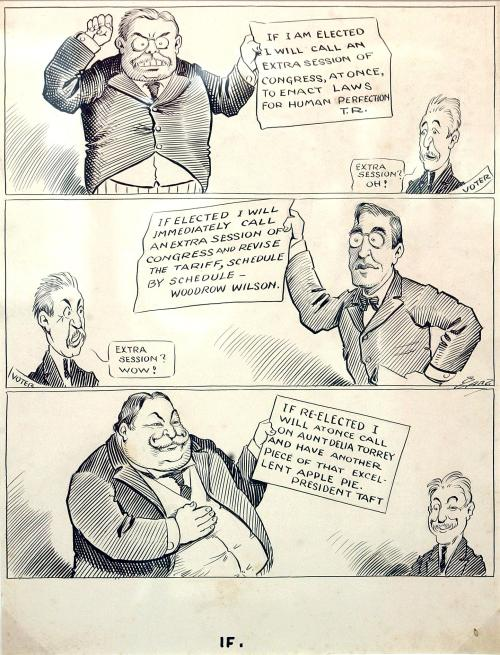 bizarro-burly-beefcake:  Political cartoons from way back when kicked so much more ass than they do now.  Seriously, that's a goddamn fat joke right there.