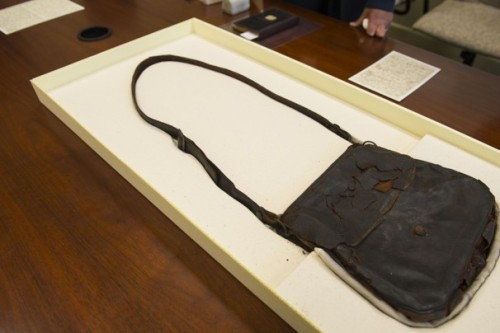 vintageanchorbooks:  Walt Whitman's haversack to go on display at Library of Congress.