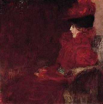zombienormal:  Woman in an Armchair, Gustav Klimt (1862-1918), 1897-98. (Sotheby's London, 2001) Via.