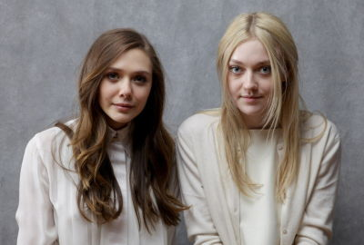 suicideblonde:  Elizabeth Olsen and Dakota Fanning at the Sundance Film Festival