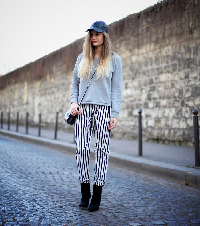 lookbookdotnu:  Adenorah - striped pants (by Adenorah M)