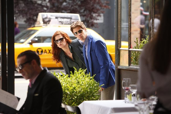 "neverlandtoremember:  Debra Messing and Christian Borle in Smash episode 2.03, ""The Dramaturg."""