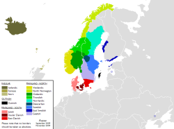 Traditional Scandinavian Dialect Groups, via reddit