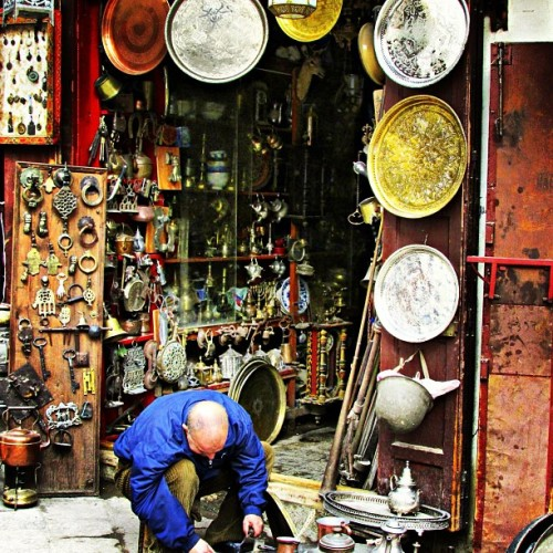 Craftsman in downtown Old Fes, Morocco